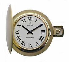 Vintage 1960's TIFFANY & Co 14K Gold Pocket Watch by Concord Near Mint Condition