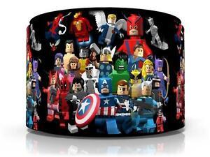 Lego marvel superheroes ceiling light lamp light shade 11 free p la imagen se est cargando lego marvel superheroes de la luz de techo aloadofball Images