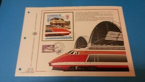 FRANCE-DOCUMENT-ARTISTIQUE-YVERT-AEROTRAIN-EXPORAIL-NICE-1982-L633