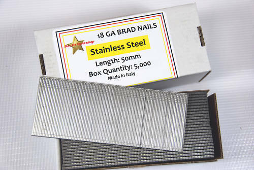 BOX 5000 18 GAUGE 40MM STAINLESS STEEL BRAD NAILS