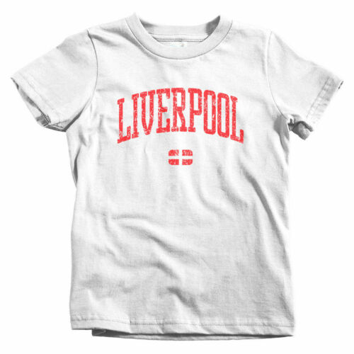 Liverpool England Kids T-shirt UK Merseyside Scouser Baby Toddler Youth Tee