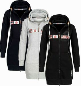 Details about Geographical Norway Ladies' Sweat Jacket Hoodie Sweater Transition Jacket New show original title