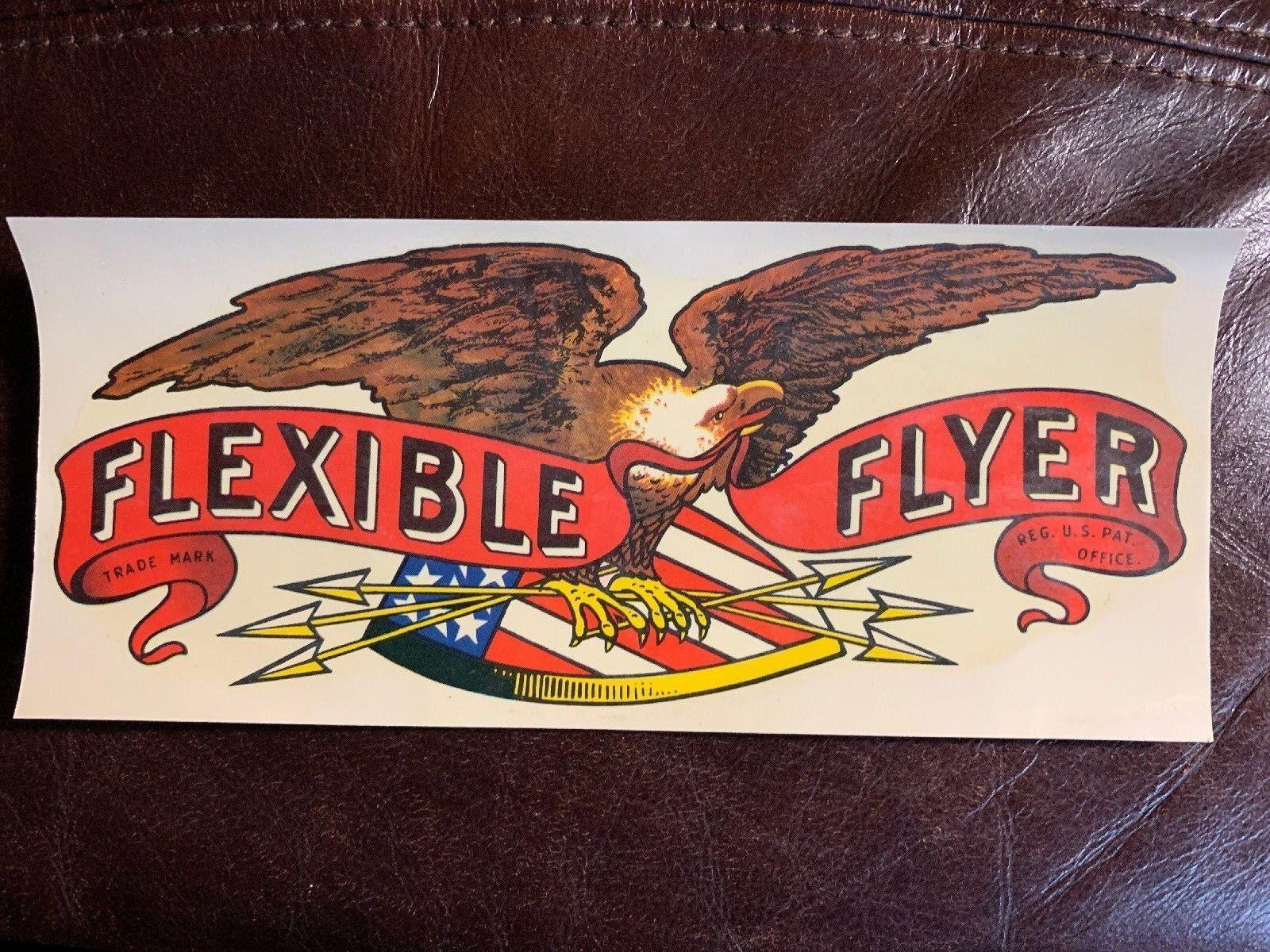 Vintage Flexible Flyer Snow Sled  Unused Water Slide Decal