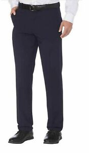 NWOT-IZOD-Men-039-s-Performance-Stretch-Straight-Dress-Pant-Navy-34x32