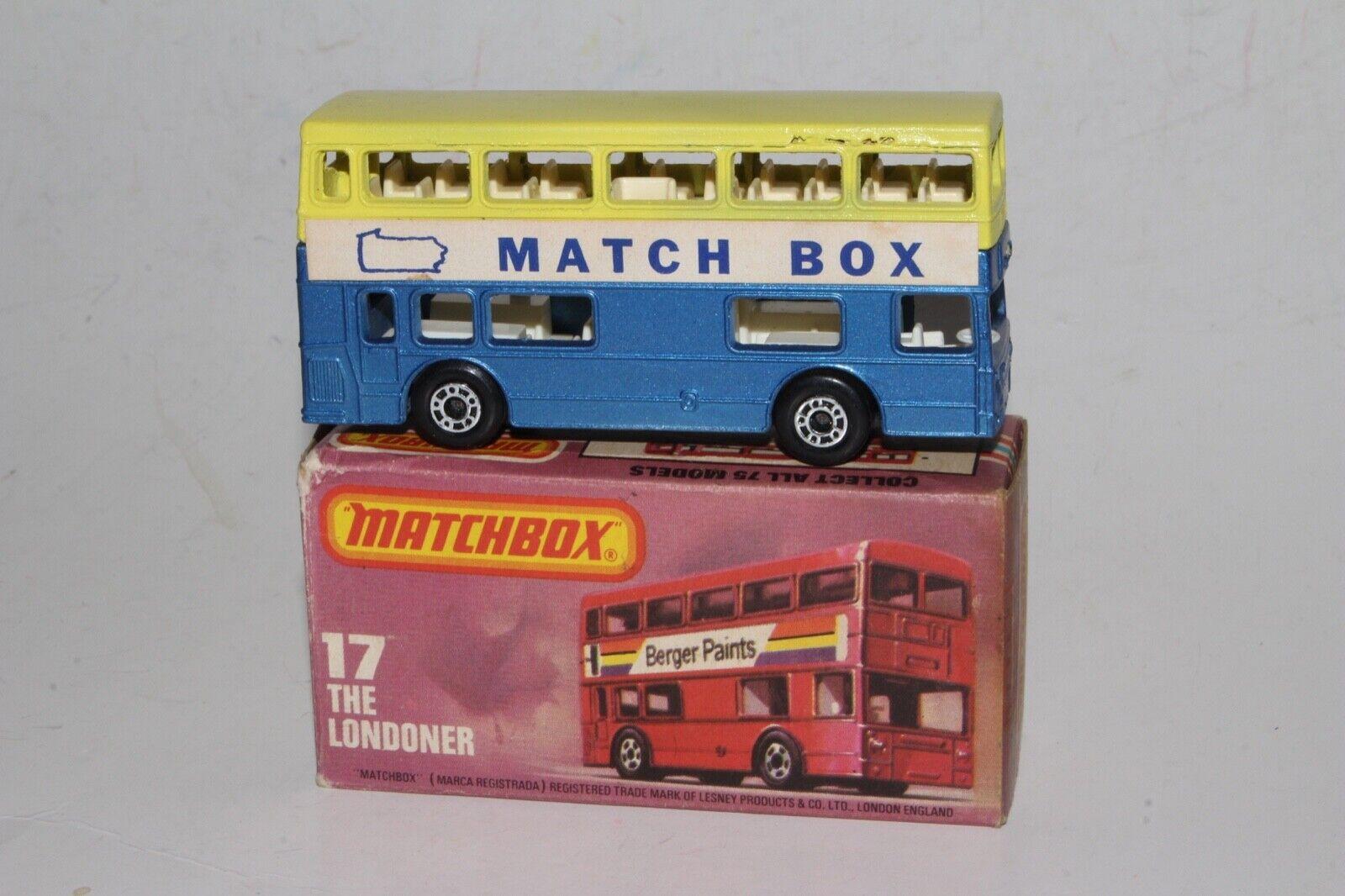 Matchbox Superfast Londoner Autobús de Dos Pisos, Raro 1981 Coleccionista