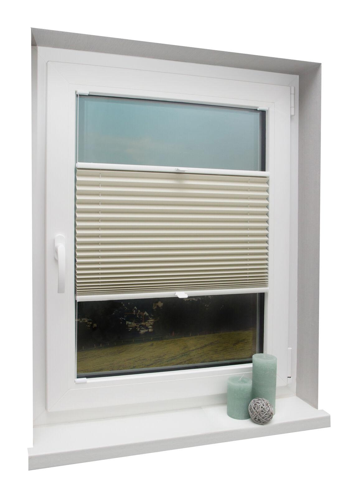 Thermo Plissee auf auf auf Maß Beige für Fenstermontage in der Glasleiste mit Spannschuh    Outlet Store Online  855d80