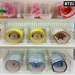 BTS BT21 Official Authentic Goods Cereal Bowel 520ml+Spoon set 17cm + Tracking#