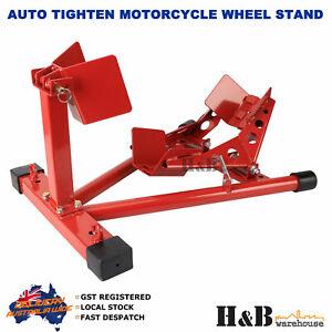Heavy-Duty-Auto-Tighten-Motorcycle-Motor-Motorbike-Stand-Front-Wheel-Chock