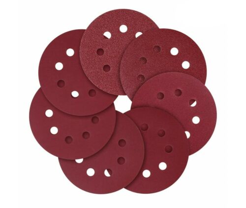 5-Inch 8-Hole Hook and Loop Sanding Discs 40//80//120//180//240 Assorted Grit 100pcs
