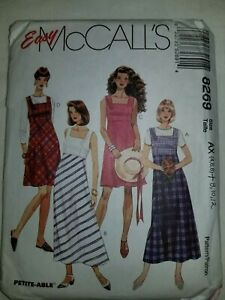 Dress-Jumper-Sundress-Sewing-Pattern-8269-McCalls-Size-4-6-8-10-12-UC-FF-Womens