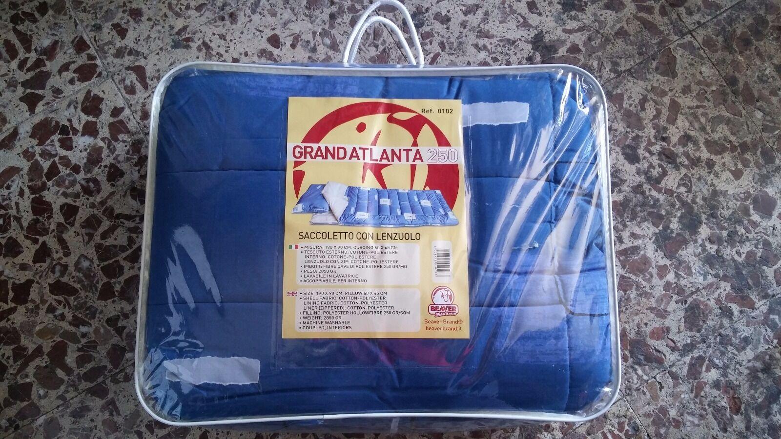 GRAND ATLANTA 250 BEAVER BRAND Saccoletto con lenzuolo (190 X 90)