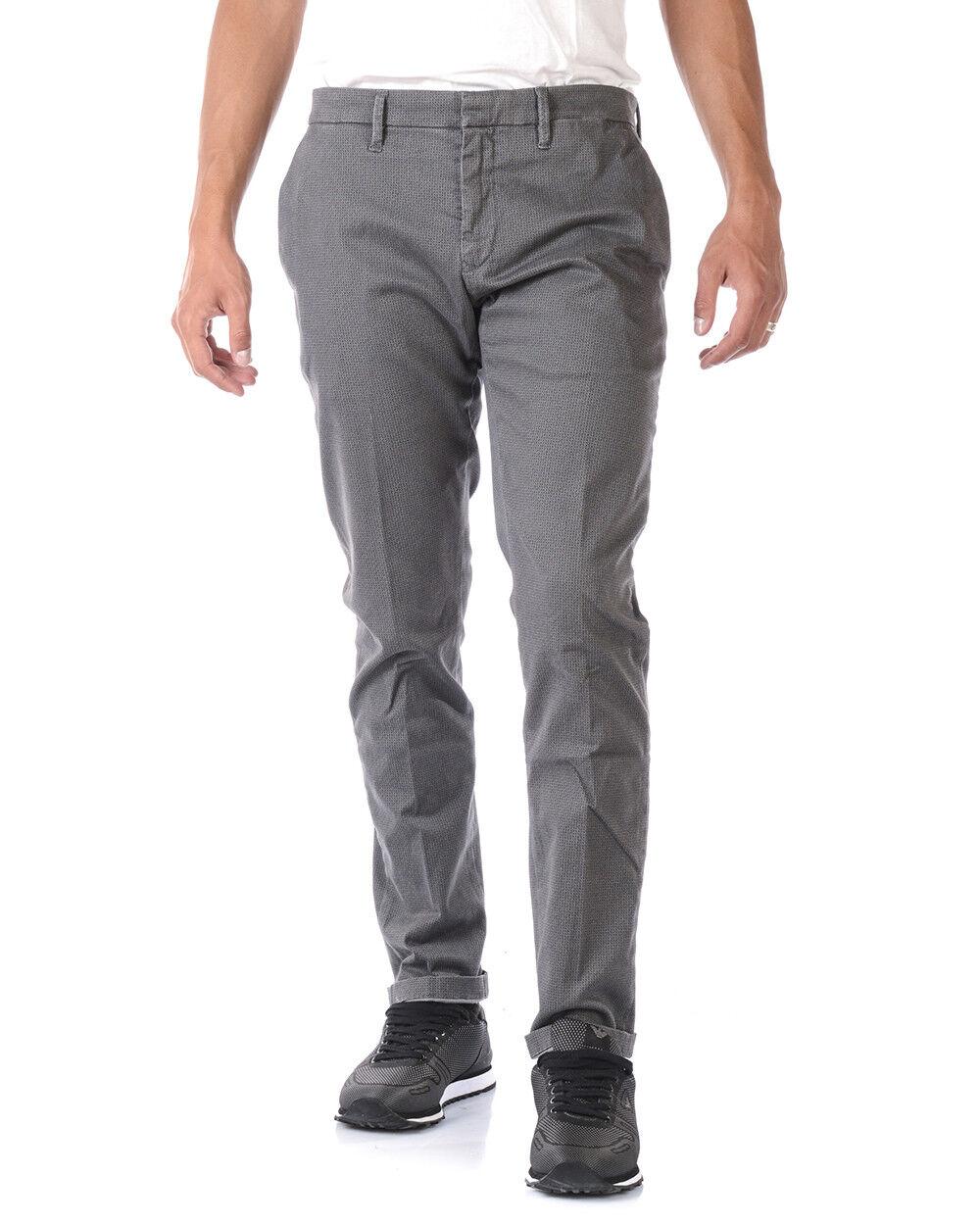 Pantaloni Siviglia Jeans Trouser Cotone MADE IN ITALY men grey P006866 8623