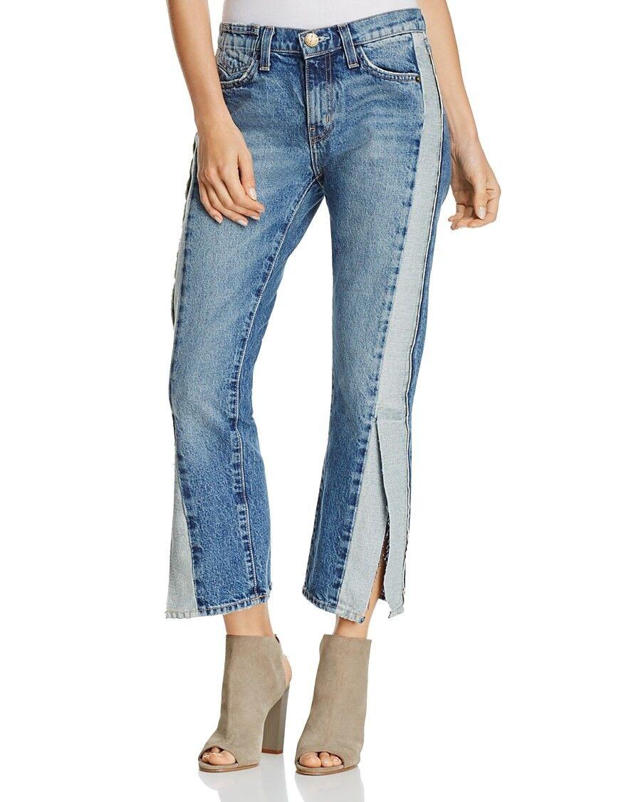 NEW 17  Women Current Elliott Crop Rip Straight Re-Engineered Jeans  Size 28