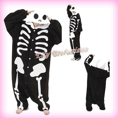 New Anime Cartoon Animal Cosplay Human Skeleton Costume Onesies Sleepwear