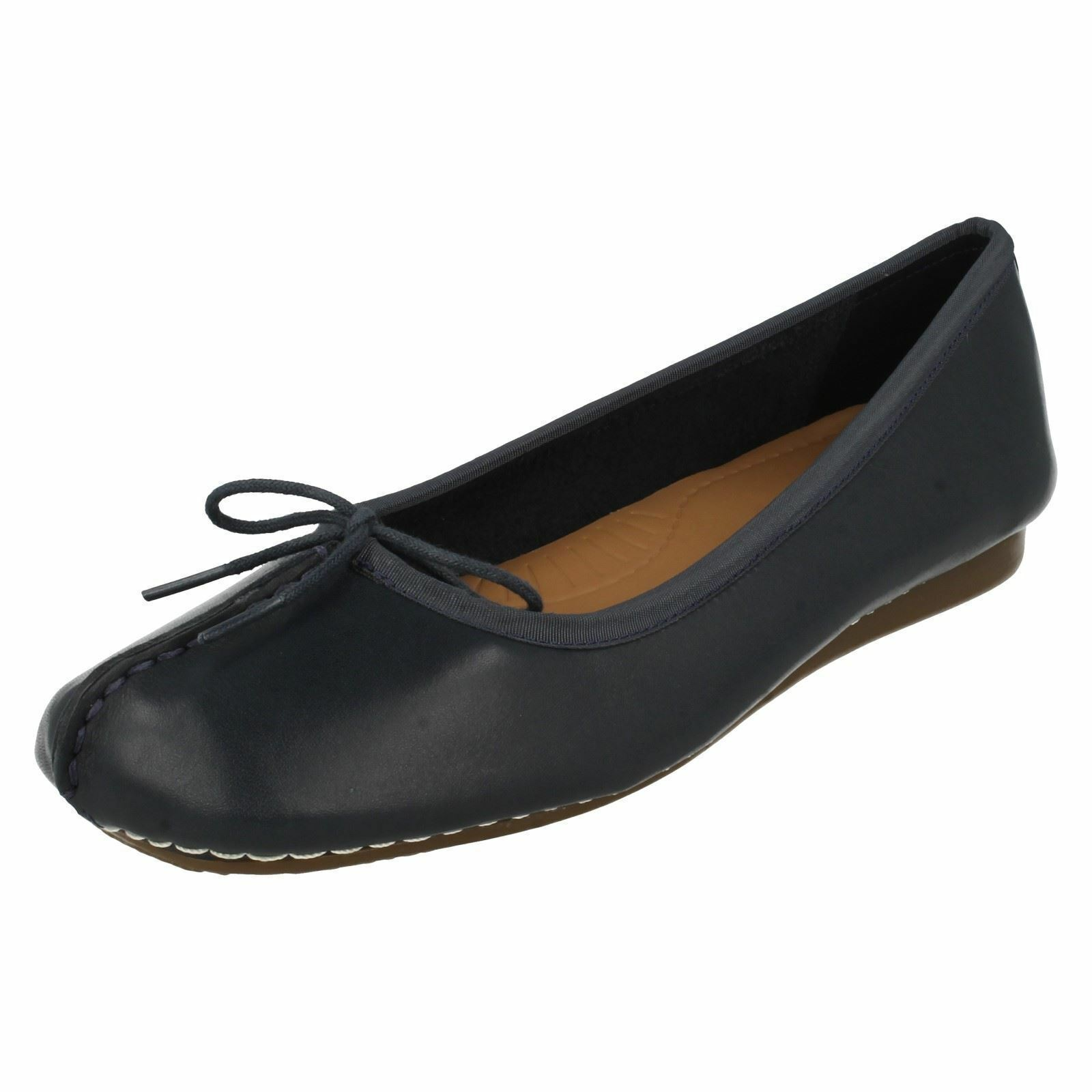 LADIES LEATHER BALLERINA Schuhe BY CLARKS FRECKLE ICE SALE SALE SALE NOW 309ef0