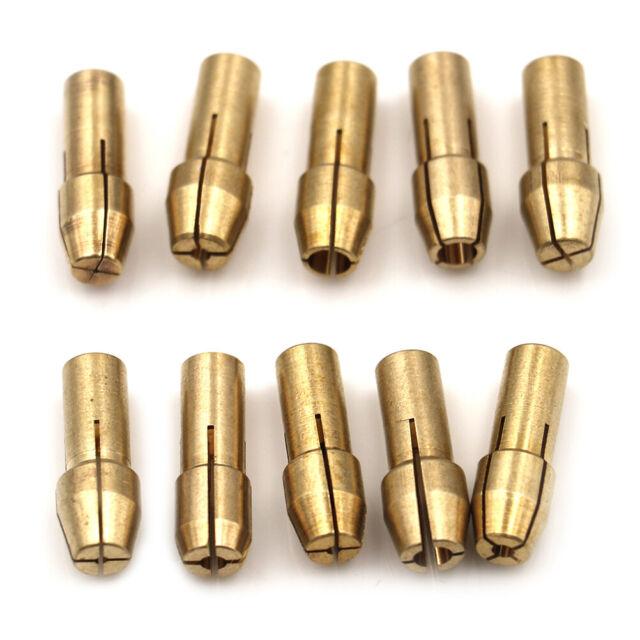 10Pcs Brass Drill Chuck Collet Bits 4.8mm 0.5-3.2mm Shank Universal Rotary Tools
