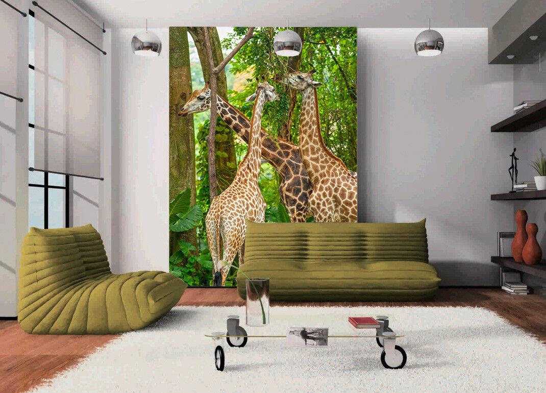 3D Wald Giraffe 56 Tapete Tapeten Mauer Foto Familie Tapete Wandgemälde Summer