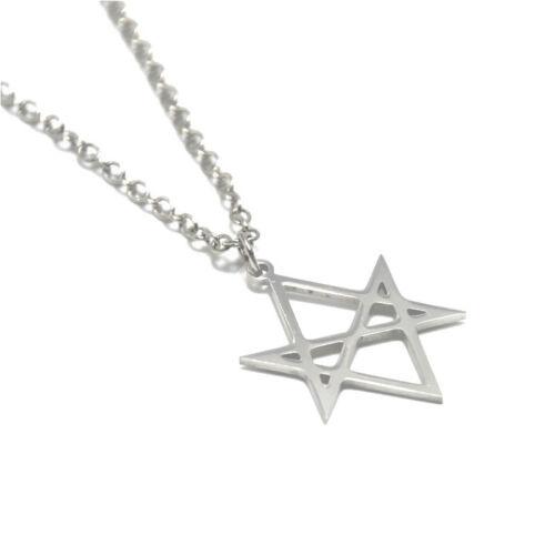 Unicursal Hexagram Symbol charm necklace Emblem Amulet bangle keyring bookmark