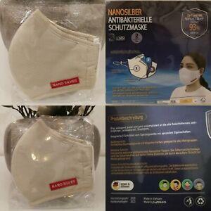 4-Stueck-Nano-Silber-3-Lagig-Waschbar-Mund-Nase-Face-Kosmetik-Maske-Beige