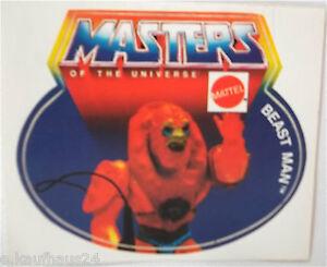 Sammler-Aufkleber Mattel Beast Man Motu Masters of the Universe 80er