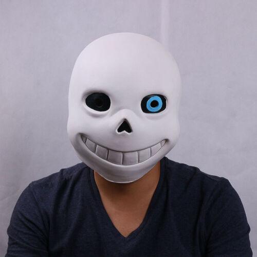 Game Undertale Sans Papyrus Cosplay Mask Halloween Fancy Soft Latex Helmet Props