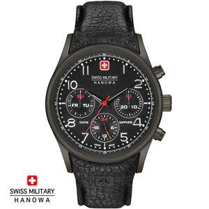 Swiss-Military-Hanowa-06-4278-13-007-Navalus-Armband-Uhr-Herren-NEU
