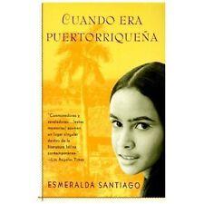 CUANDO ERA PUERTORRIQUENA / WHEN I WAS PUER - ESMERALDA SANTIAGO (PAPERBACK) NEW
