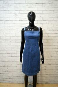 Vestito-Donna-LEVIS-Size-L-Abito-Tubino-Jeans-Dress-Women-Blu-Robe-Tajer-Cotone