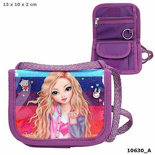 Top Model Friends Neck Pouch//Travel Wallet /'Christy/' Pink//Purple Depesche 10630