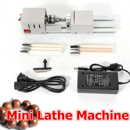 Mini Lathe Beads Machine Wood Working DIY Lathe Polishing Drill Rotary 12-24V DC