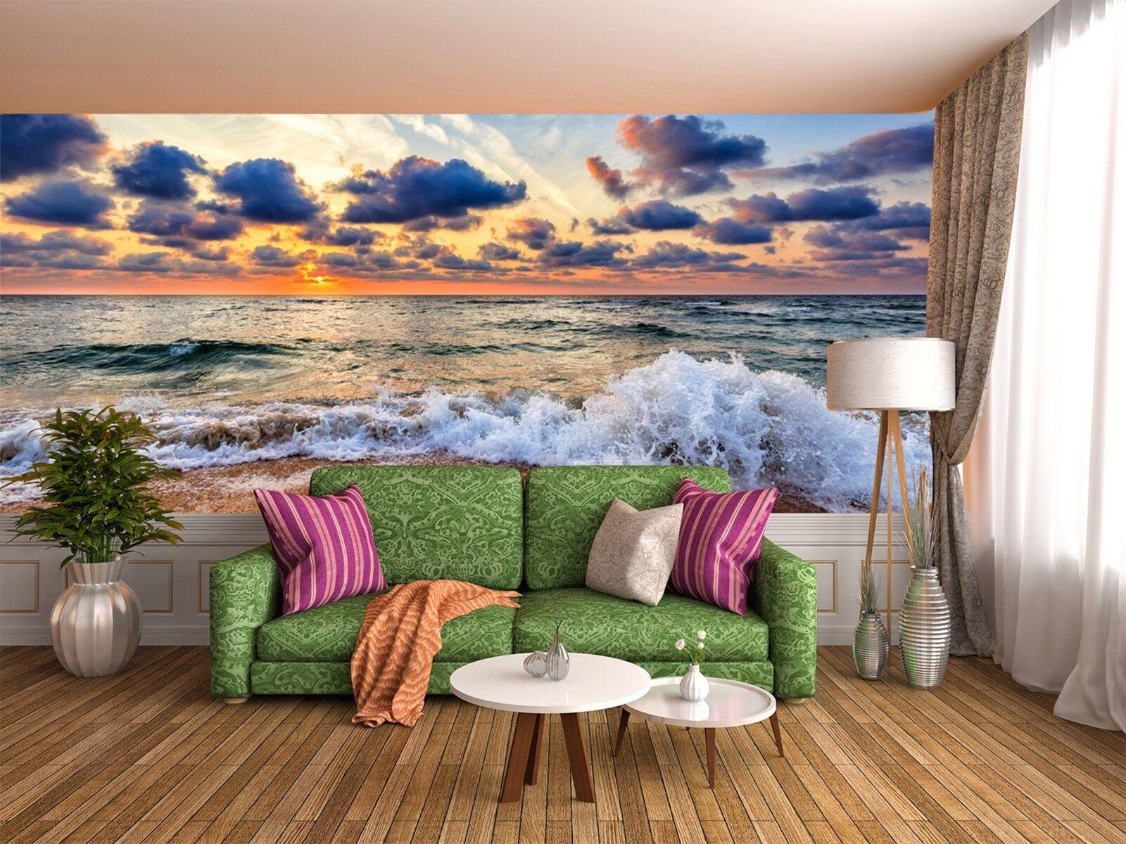 3D Himmel Wellen Wolken 7946 Tapete Wandgemälde Tapeten Bild Familie DE Lemon