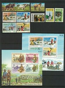 MNZ87-New-Zealand-1984-Stamp-Sets-Minisheets-MUH