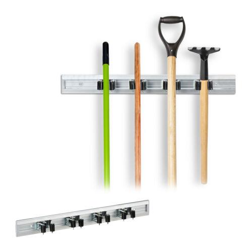 2 x Gerätehalter Wandhalterung Werkzeughalter Aluleiste Besenhalter Stielhalter