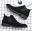 UK-Mens-Formal-High-Top-Chelsea-Ankle-Boots-Shoes-Faux-Suede-Casual-Shoes-Chukka thumbnail 10