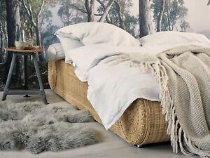 Details zu Bett 180x200 Rattan Ehebett Doppelbett Rattanbett Schlafzimmer  Möbel NEU RONDA
