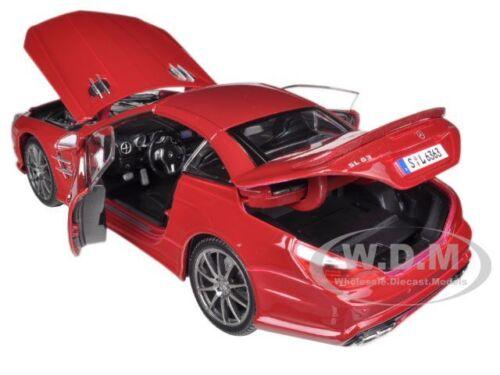 2012 MERCEDES SL 63 AMG RED 1//18 DIECAST MODEL CAR BY MAISTO 36199