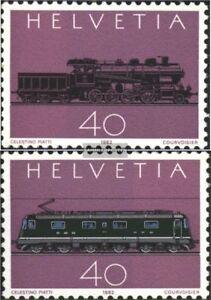 Schweiz-1214-1215-kompl-Ausgabe-postfrisch-1982-Gotthard-Bahn