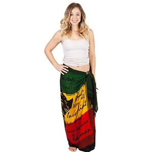 Women-039-s-Rasta-Lion-Beach-Pool-Wrap-Cover-Up-Sarong-Rasta-A-One-Size-51060