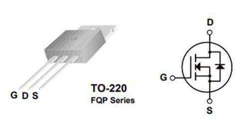 5 x FQP50N06 60 V N-CHANNEL ENHANCEMENT MODE POWER MOSFET TO-220 P50N06