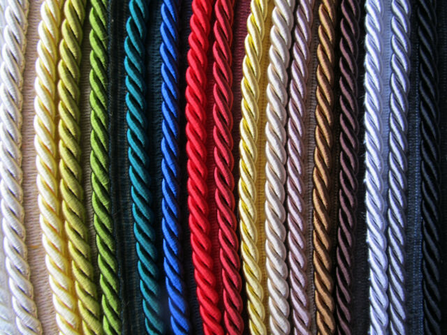 10mm,Barley Twist Rope Cord Trim,Braided,Piping,Upholstery.9 Bright Colours.Neo