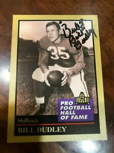 1991-Enor-Pro-Football-HOF-37-Bill-Dudley-Hand-Signed-Autographed-Card-NM-Cond