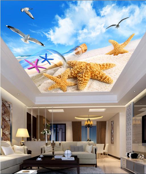3D Sea Star Ceiling WallPaper Murals Wall Print Decal Deco AJ WALLPAPER AU