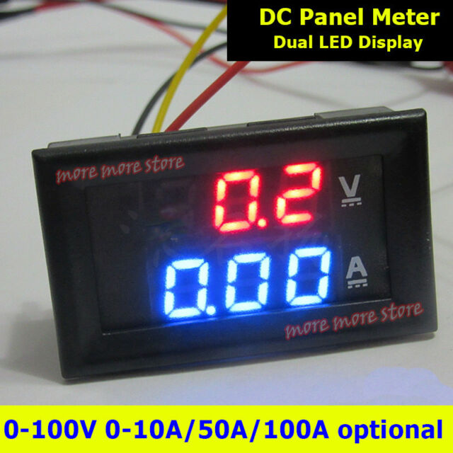 50A//75mV Amp Meter Ammeter 0-50A Shunt Resistors Resistance for DC Current Measure