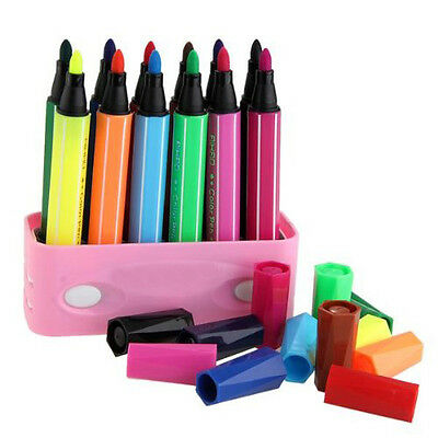 Watercolour Brush pencil 12 colors washable painting drawing Art for child + box