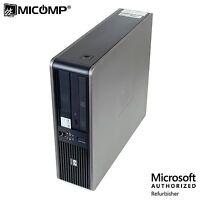 HP DC 7800 SFF Desktop PC Core 2 Duo 2.80Ghz 6GB 500GB DVD Windows 10 Pro 64