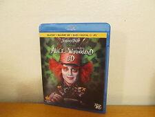 Alice in Wonderland 3D - 3D Blu Ray / 2D Blu Ray + Dvd
