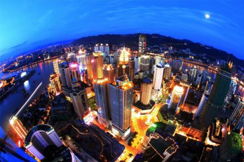 CHONGQING SKYLINE GLOSSY POSTER PICTURE PHOTO china zhang asia chinese city 728