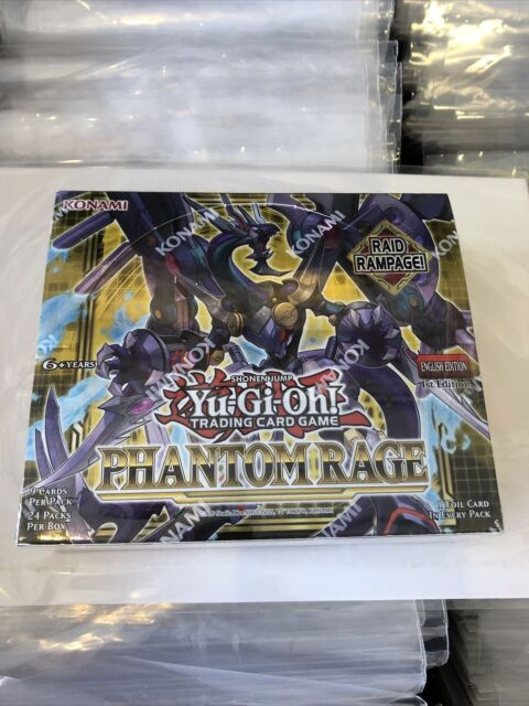Yu-Gi-Oh Phantom Rage 1st Edition Booster BOX Sealed English Yugioh IN STOCK