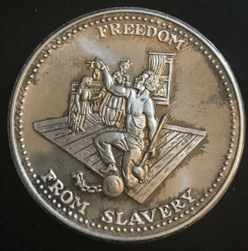 Johnson Matthey One Troy Ounce 999 Fine Silver Freedom From Slavery Coin