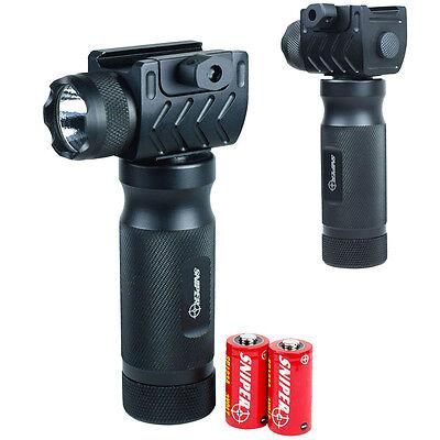 Tactical Foregrip Vertical Grip -  High Power CREE LED Flashlight QR Rail Mount
